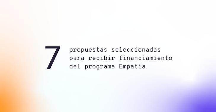 Proyectos seleccionados y con mención de honor del programa Empatía